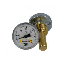 Moyen thermomètre avec matériels d'installation